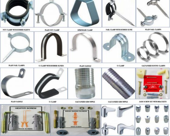 Pipe Clamps , Hangers and Rubber Support System
